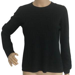 FOLIO Extra Fine Merino Wool Black Sweater M